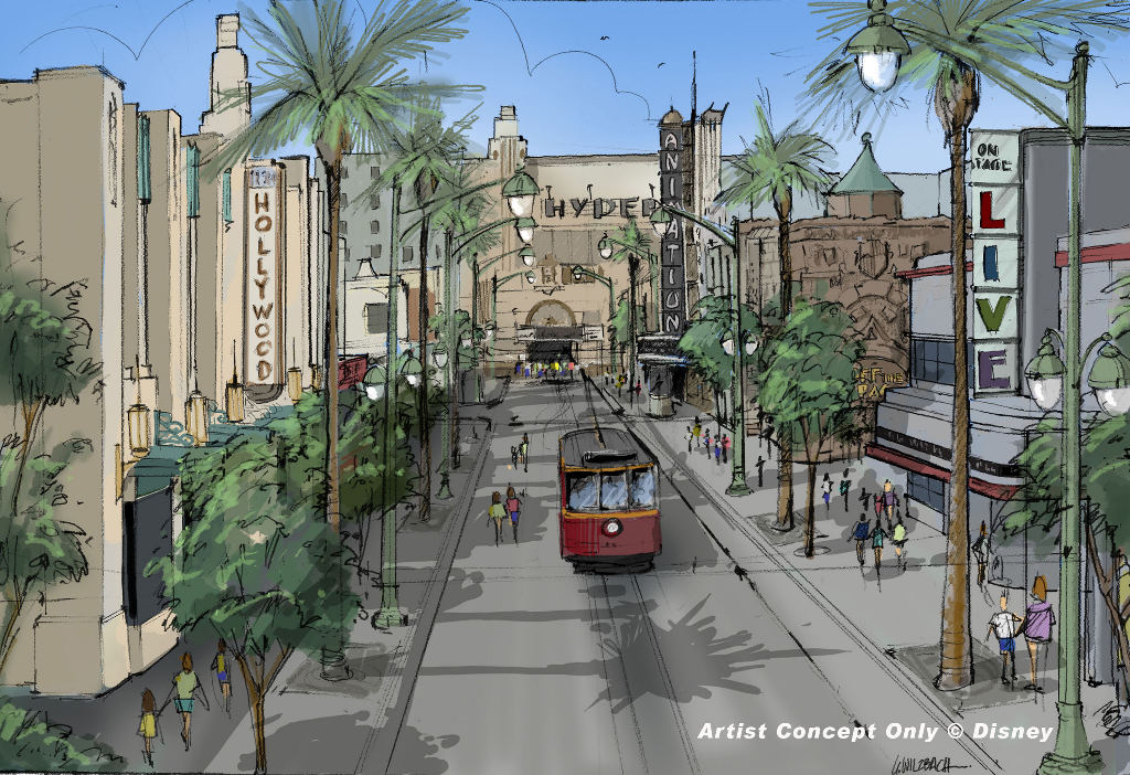 Hollywood Pictures Backlot Construction And Retheming
